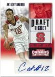 Anthony Barber 2015-16 Panini Contenders Draft Picks Rookie Auto