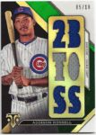 Addison Russell 2016 Topps Triple Threads Triple Jersey Green 5/18