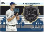 Cole Hamels 2017 Topps All Star Game Silver Medal 27/50