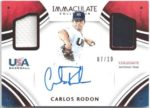 Carlos Rodon 2016 Panini Immaculate Auto Dual Jersey 7/10