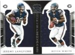 Jeremy Langford / Kevin White 2015 Panini Crown Royale Dual Rookie Jersey 65/99