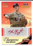 Kris Bryant 2013 Panini USA Champions Rookie Auto Red Ink 4/25