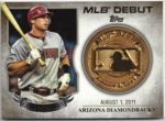Paul Goldschmidt 2016 Topps MLB Debut Gold Medallion