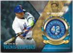 Yoenis Cespedes 2017 Topps Jackie Robinson 70th Anniversary Commemorative Patch